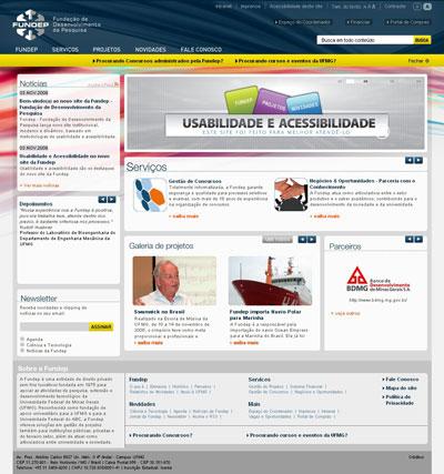 Imagem do Site novo da Fundep